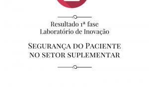 Resultado da 1ª etapa de seleção do Laboratório de Inovações sobre Segurança do Paciente