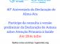 Prorrogada consulta pública à Declaração de Astana sobre Atenção Primária à Saúde – 40º aniversário da Declaração de Alma-Ata