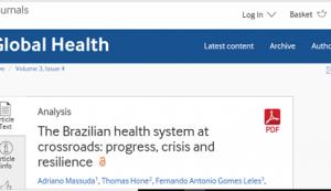Brasil poderá enfrentar uma grave crise na saúde com as medidas de austeridade fiscal