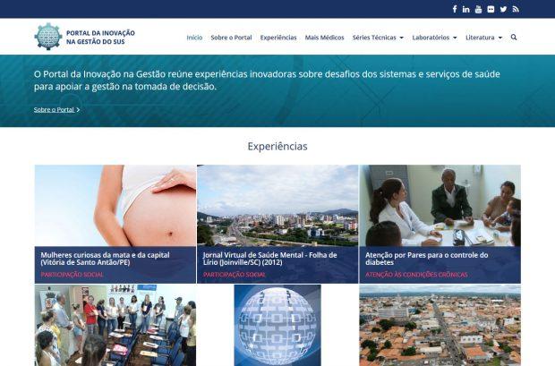 Nova plataforma do Portal da Inovação na Gestão do SUS