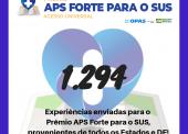 Mil motivos para apoiar uma APS Forte para o SUS: balanço das inscrições do Prêmio