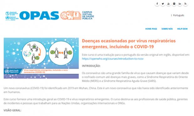 Curso virtual sobre doenças ocasionadas por vírus respiratórios emergentes, incluindo o COVID-19