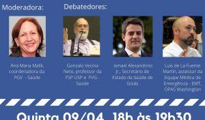 Debate virtual 09/04 – COVID-19 – Ampliação da capacidade dos serviços hospitalares para a resposta à pandemia