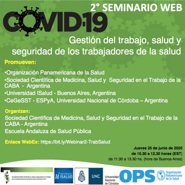 OPAS/OMS promove seminário web sobre Gestão do Trabalho, Saúde e Segurança dos Trabalhadores na resposta à Covid-19